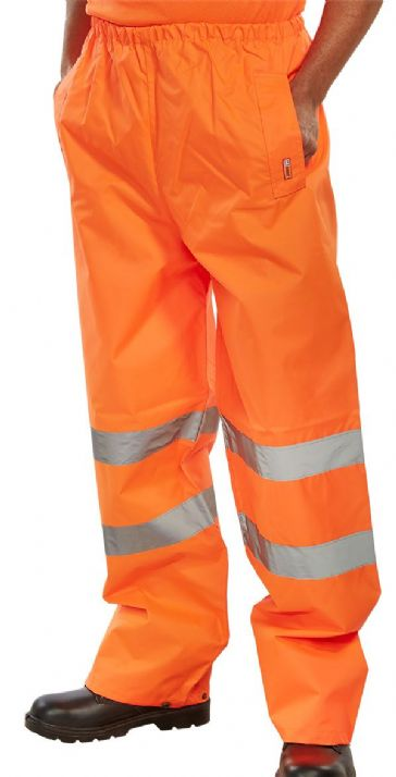 B Seen Waterproof Hi Vis Traffic Over Trousers